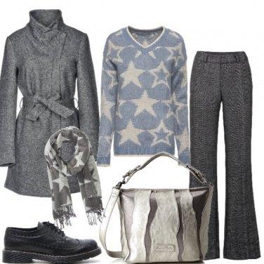 Outfit Pratica con il cappotto grigio