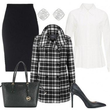 Outfit Cappotto scozzese