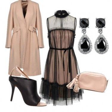Outfit CERIMONIA rosa e nero