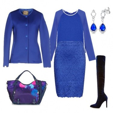 Outfit Total look blue cobalto