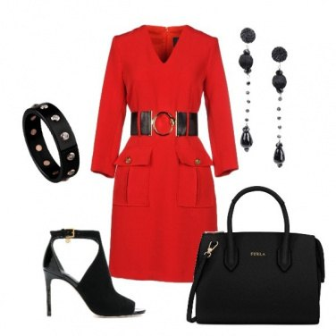 Outfit Rosso deciso