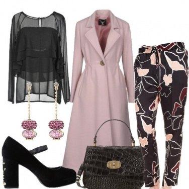 Outfit Il cappotto rosa elegante