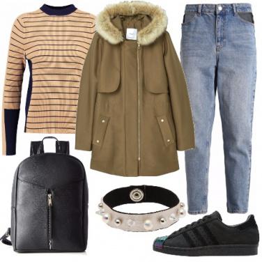 Outfit Parka e denim