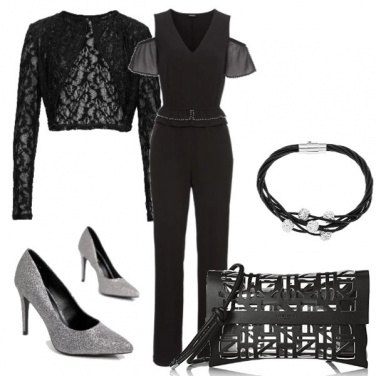 Outfit Grigio & nero