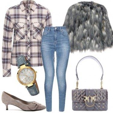Outfit Aperitivo con pellicciotto