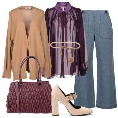 Outfit Camicia e cardigan