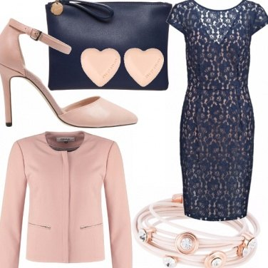 Outfit Madrina glam-chic