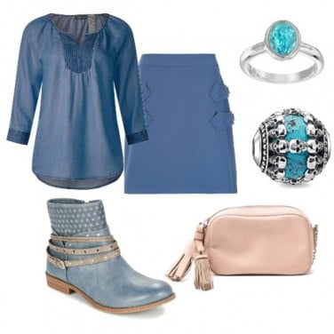 Outfit Nei toni dell\'azzurro