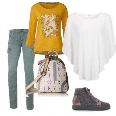 Outfit La mantella bianca
