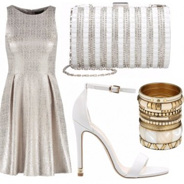 Outfit White & gold party
