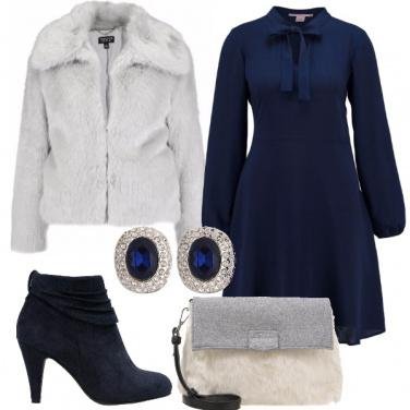 Outfit Pellicciotto grigio