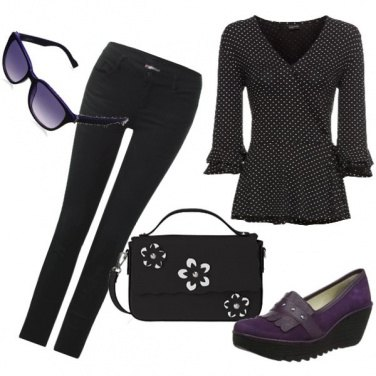 Outfit Il tocco viola