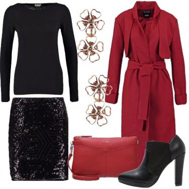 Outfit Mingonna di paillettes