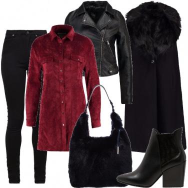 Outfit Velluto e pelliccia