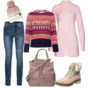 Outfit Freddo in rosa