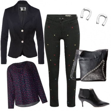 Outfit Jeans ricamato