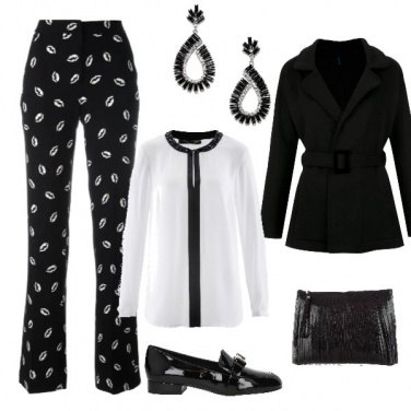 Outfit Bianco e nero glamour