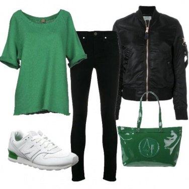 Outfit Verde mela