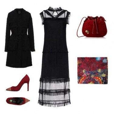 Outfit Serata rouge et noir