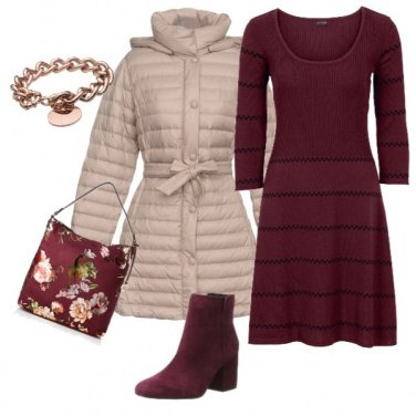 Outfit Bordeaux & Beige x tutti i giorni