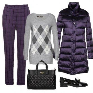 Outfit Il piumino viola