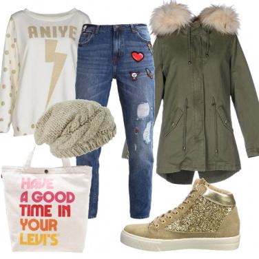 Outfit Un tocco di oro