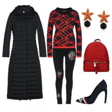 Outfit Piumino nero lungo