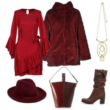 Outfit Country chic in rosso