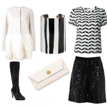 Outfit Short e pailettes