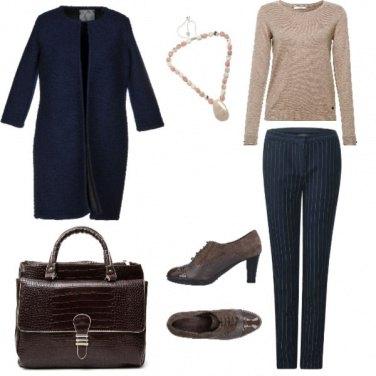 Outfit Trendy, gessato semple classico