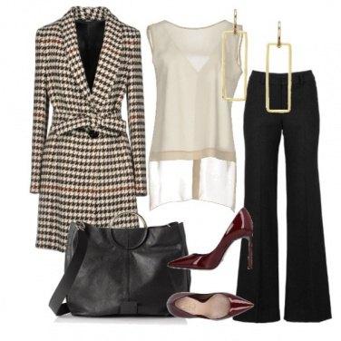Outfit Quadri Chic