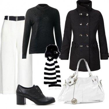 Outfit Ufficio in bianco e nero