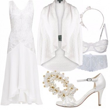 Outfit 50 shades of.... wedding in white
