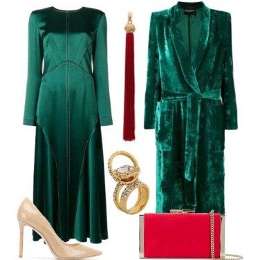 Outfit Green & Velvet