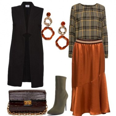 Outfit Rust & Check