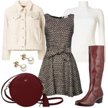 Outfit L\'abitino in tweed