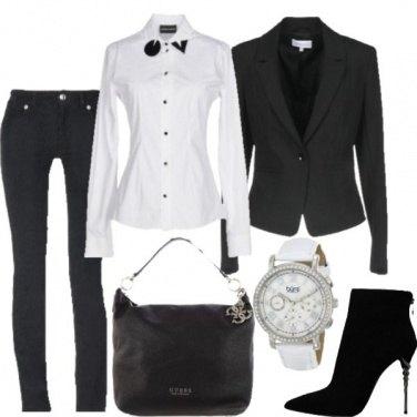 Outfit In bianco e Neto