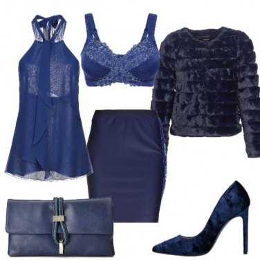 Outfit Sexy in blu