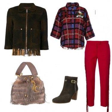 Outfit Tofly_quadretti e frange