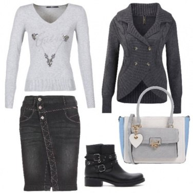 Outfit Basic in grey