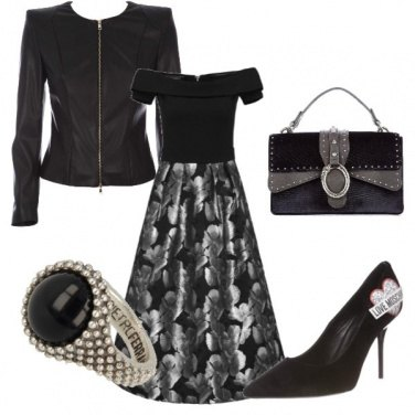 Outfit Black and Silver night