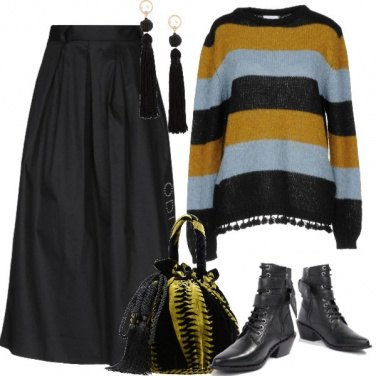 Outfit Frangette e nappine