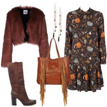 Outfit Ecofur e abito a fiori