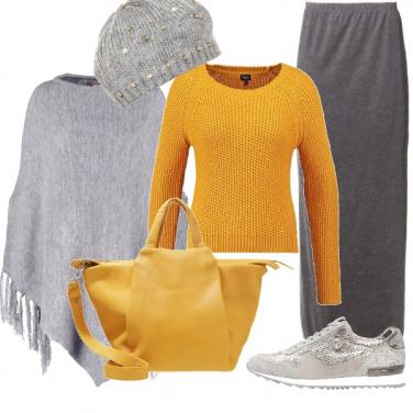 Outfit Brillantini in grigio