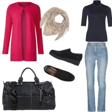 Outfit Basic, tocco di colore autunnale