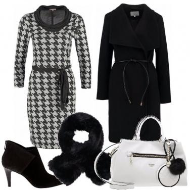 Outfit Vestito pied de poule