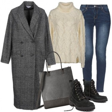 Outfit Cappotto lungo e jeans