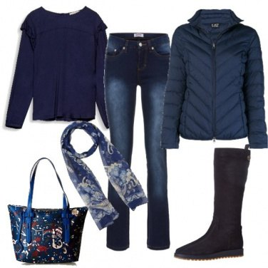Outfit Il blu dominante