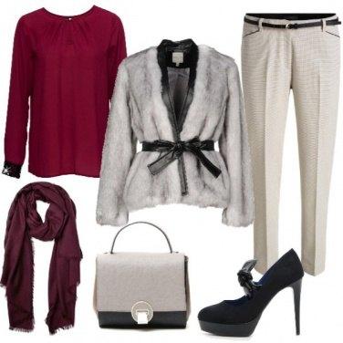 Outfit Pelliccia in grigio