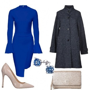 Outfit Abito bluette come Kate Middleton